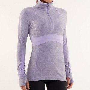 Lululemon Lavender Wee Stripe Full Tilt Pullover